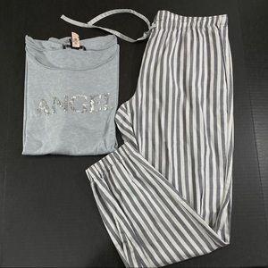 Victoria's Secret flannel pants sequins top pajama